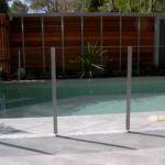 Glass pool fencing design