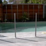 Glass pool fencing design