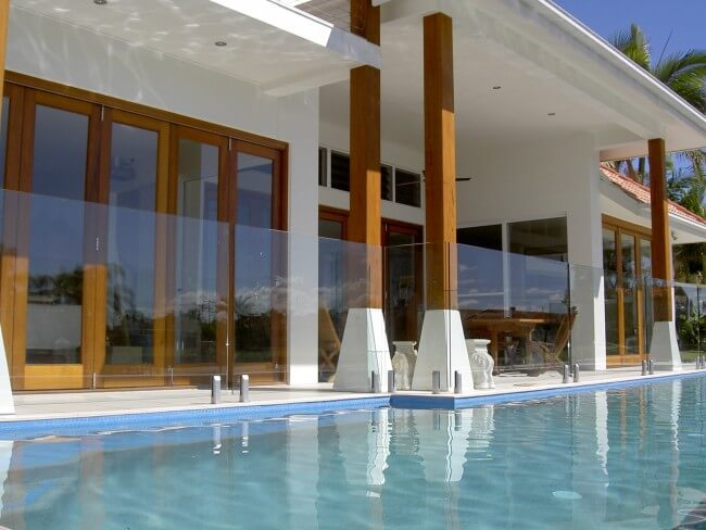 Attractive Glass Pool Fencing